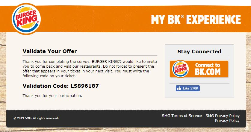 BK feedback UK